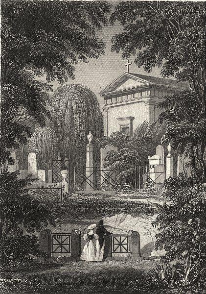 Associate Product PARIS. Monument de Talma Et Autres Père la Chaise 1831 old antique print