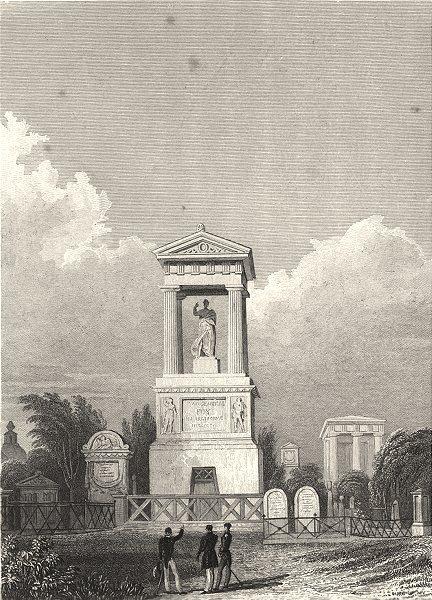 Associate Product PARIS. Monument du Général Foy, Père la Chaise 1831 old antique print picture