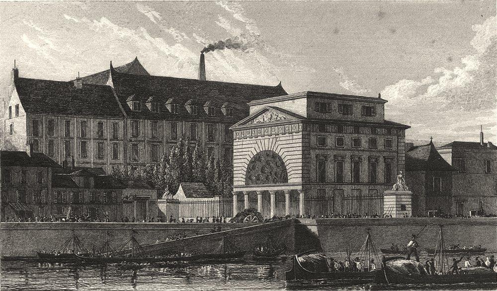 Associate Product PARIS. Barriere de Passy 1831 old antique vintage print picture