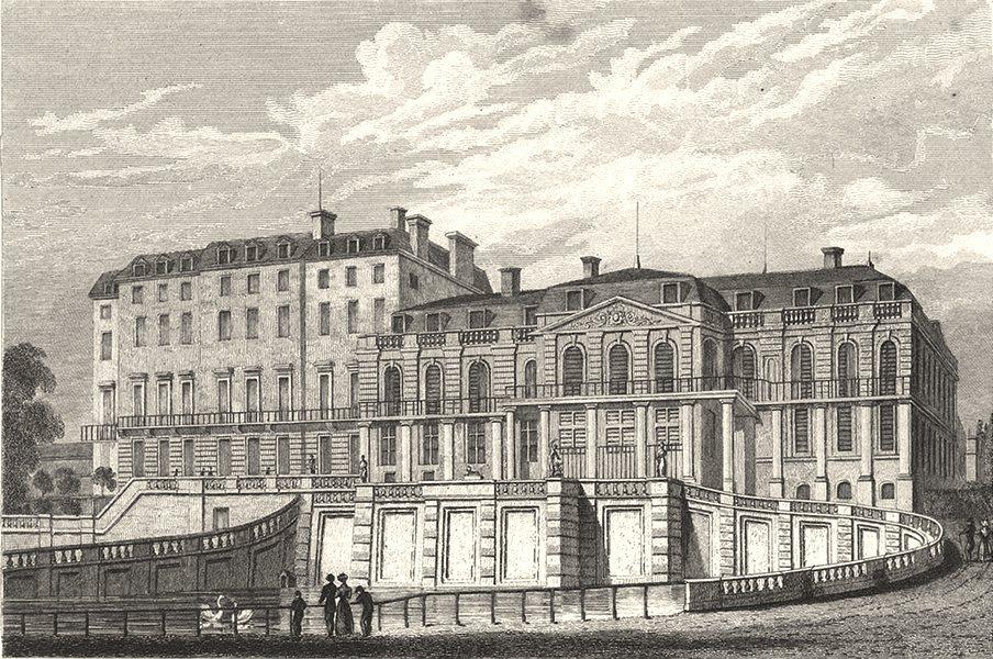 PARIS. Palais de St. Cloud, Vue du Midi 1831 old antique vintage print picture