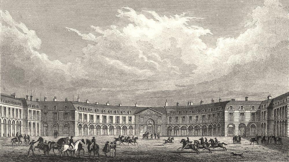 Associate Product YVELINES. Ecuries du Roi, Versailles 1831 old antique vintage print picture