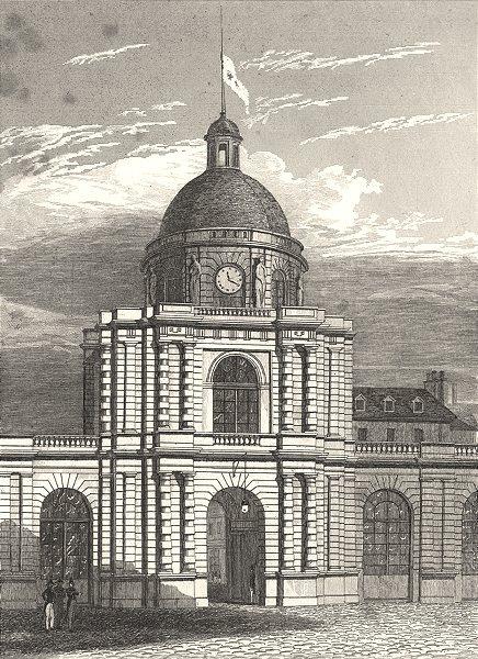Associate Product PARIS. Entŕee du Palais du Luxembourg 1831 old antique vintage print picture