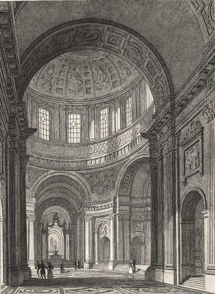 Associate Product PARIS. Dome des Invalides 1831 old antique vintage print picture