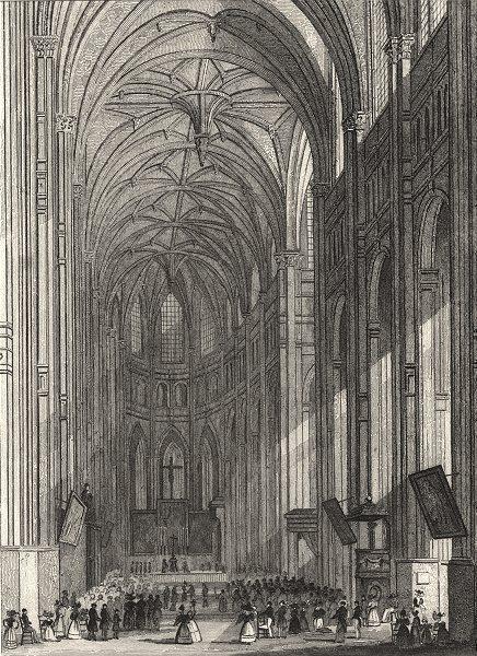 Associate Product PARIS. Eglise de St. Eustache 1831 old antique vintage print picture