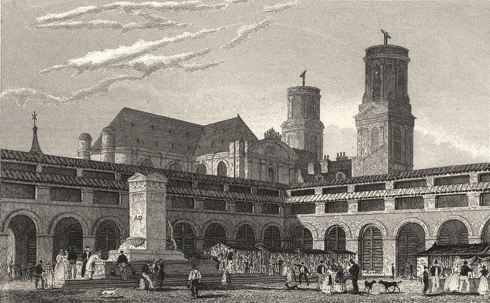 Associate Product PARIS. Marché St. Germain 1831 old antique vintage print picture