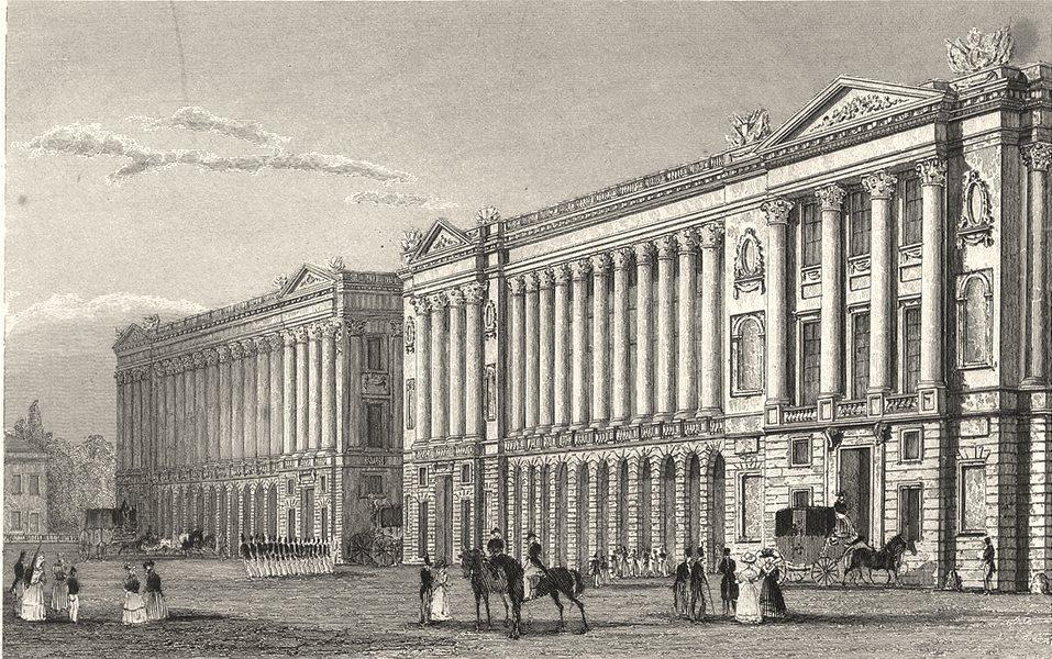 Associate Product PARIS. Garde Meuble, Veŕs la Place Louis XVI 1831 old antique print picture