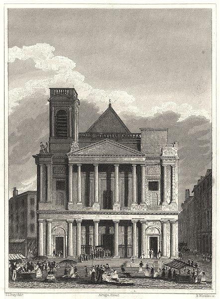 Associate Product PARIS. Eglise de St. Eustache Vers L'Occident 1831 old antique print picture