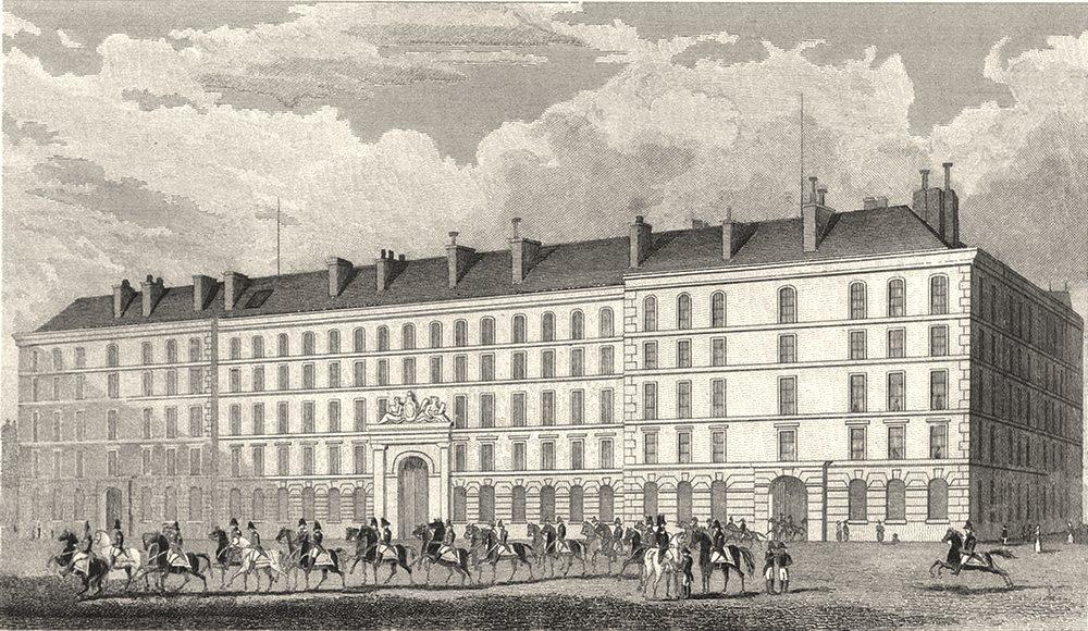 PARIS. Hotel du Carde du Corps 1831 old antique vintage print picture