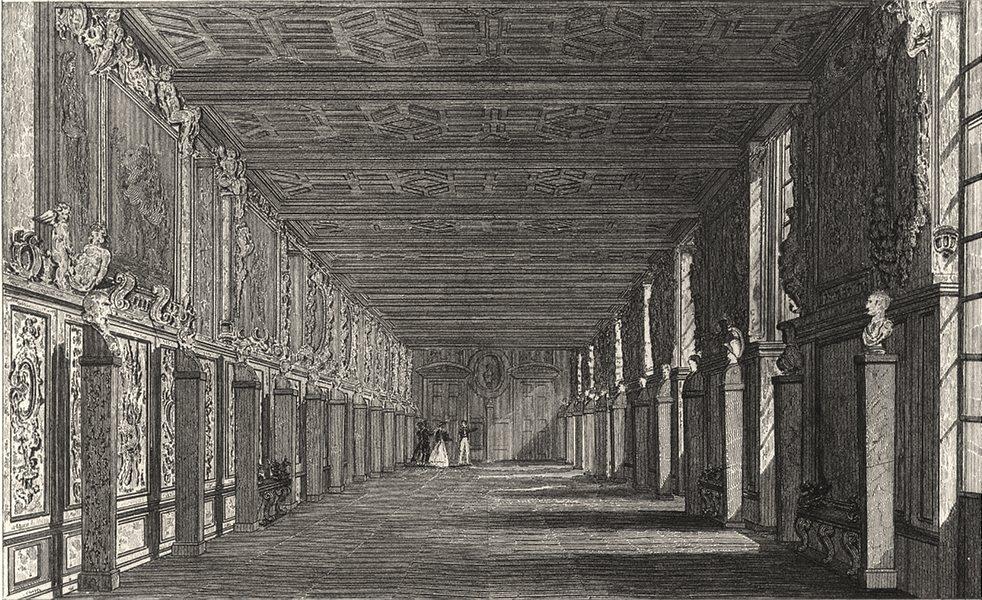 Associate Product SEINE- ET- MARNE. Galerie de Francois L Fontainebleau 1831 old antique print