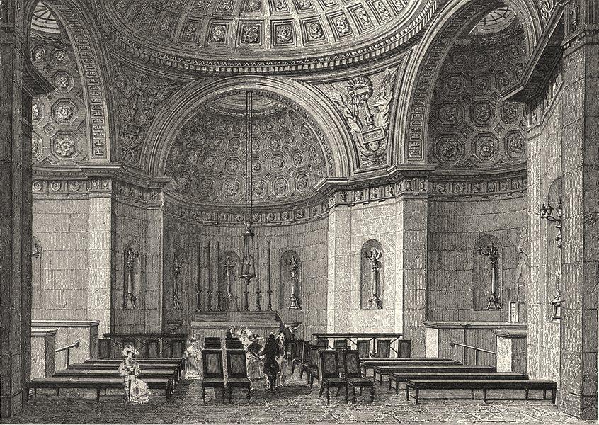 Associate Product PARIS. Chapelle Expiatoire de Louis XVI (1)  1831 old antique print picture