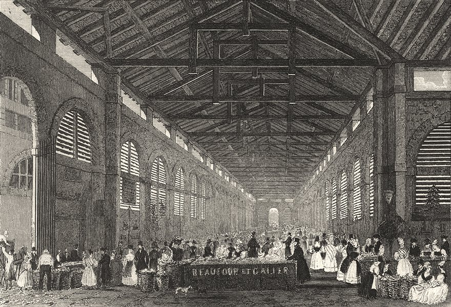 Associate Product PARIS. La Marche de St. Germain 1831 old antique vintage print picture