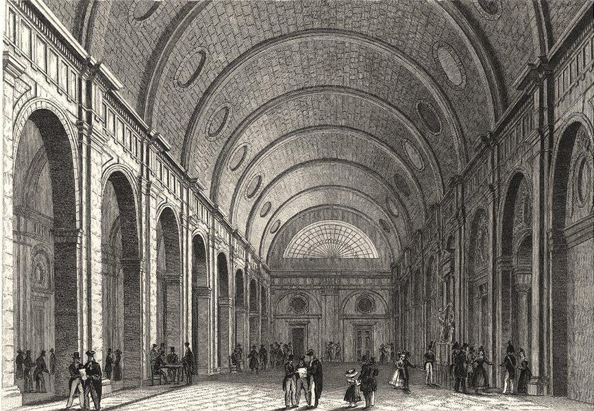 Associate Product PARIS. Salle des Pas Perdus 1831 old antique vintage print picture