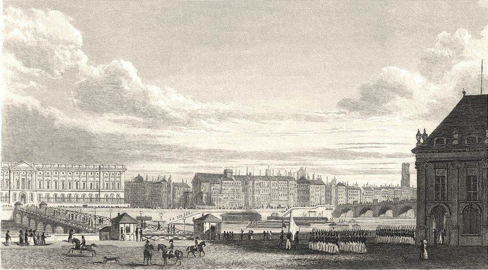 Associate Product PARIS. Vue de Paris de L' Institut 1831 old antique vintage print picture
