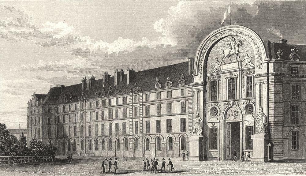 Associate Product PARIS. Hotel des Invalides, Facade Principale 1831 old antique print picture