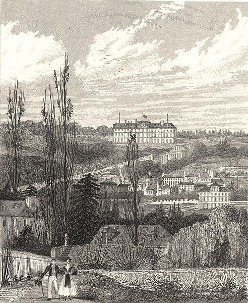 Associate Product PARIS. Chateau Royal De Meudon (Prés de Fleury)  1831 old antique print