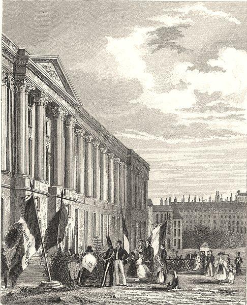 Associate Product LOUVRE. Tombeau, Consacre Memoire Ceux Perirent rev. 1830.  1831 old print