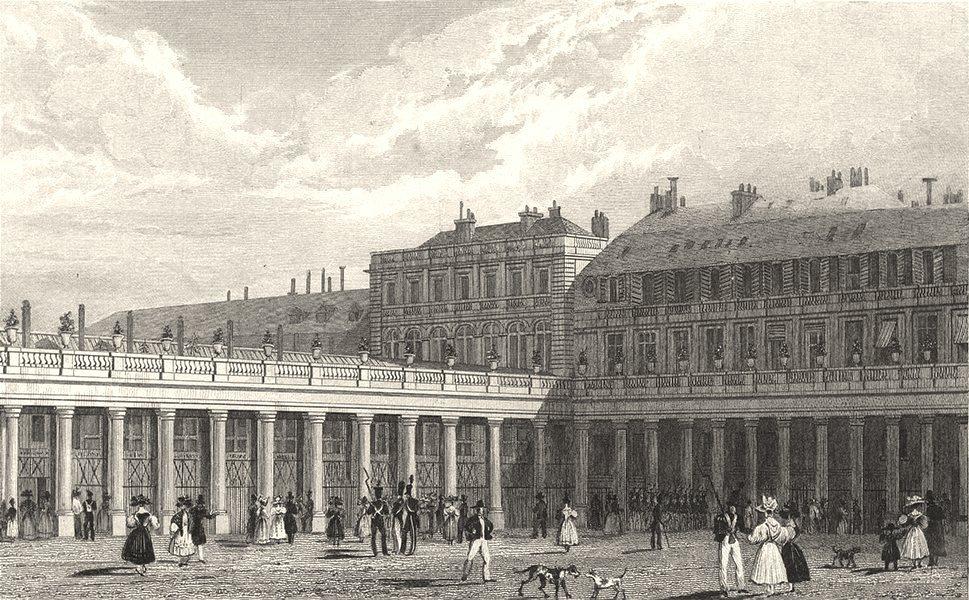 Associate Product PARIS. Cour du Palais Royal 1831 old antique vintage print picture