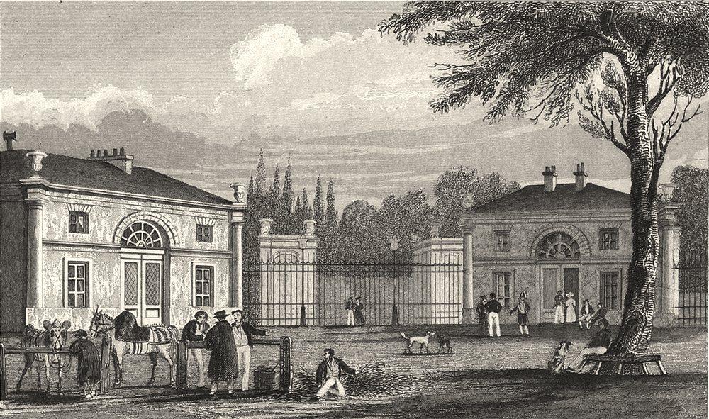 Associate Product PARIS. Entrée Au Palais de Philippe I. Á Neuilly 1831 old antique print