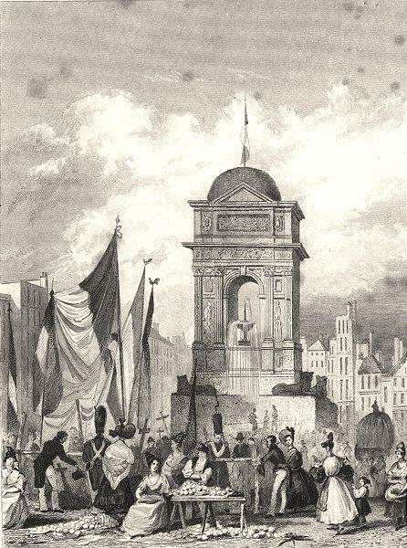 Associate Product PARIS. Tombeau Consacré à la Memoire de 1831 old antique vintage print picture