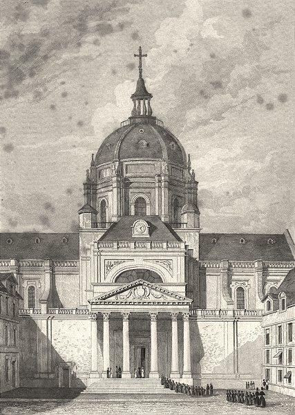 Associate Product PARIS. Eglise de Sorbonne 1831 old antique vintage print picture