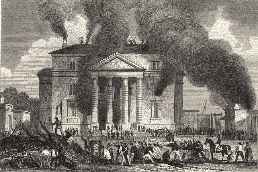 Associate Product PARIS. Incendie de la Barriere St. Denis, 29 Juillet, 1830 1831 old print