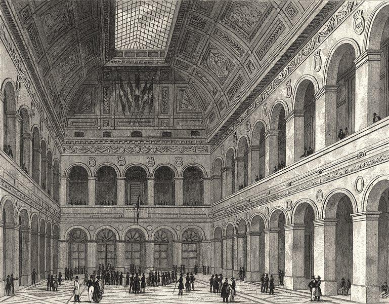 Associate Product PARIS. Intérieur de la Bourse 1831 old antique vintage print picture