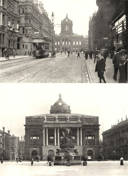 Associate Product LIVERPOOL. Castle Street and Town Hall; The town hall, Exchange Flags 1900
