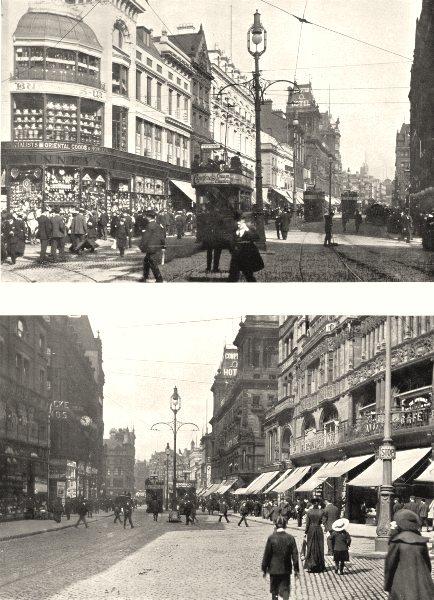 Associate Product LIVERPOOL. Church Street, Looking East; Church Street, Looking West 1900 print