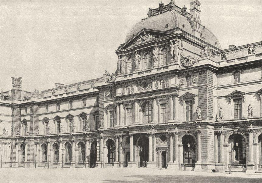 Associate Product PARIS. Louvre. Pavillon Sully 1895 old antique vintage print picture