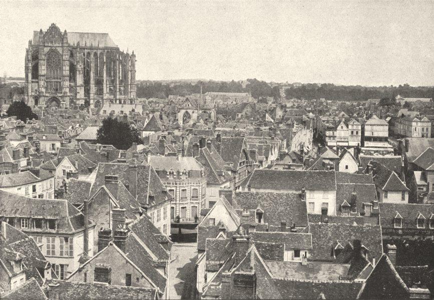 Associate Product OISE. Beauvais. Générale 1895 old antique vintage print picture