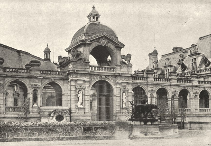 Associate Product OISE. Chantilly. Porte D' Honneur 1895 old antique vintage print picture