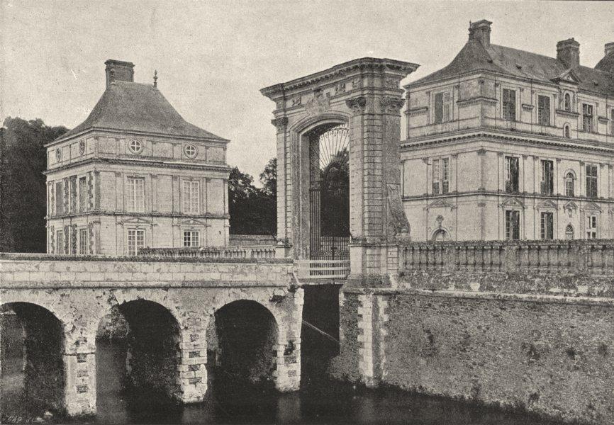 Associate Product MAINE- ET- LOIRE. Chateau de Serrant Porte D'Honneur 1895 old antique print