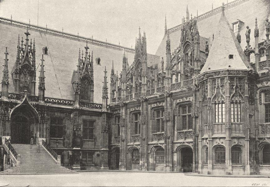 Associate Product SEINE- MARITIME. Rouen. Palais de Justice 1895 old antique print picture