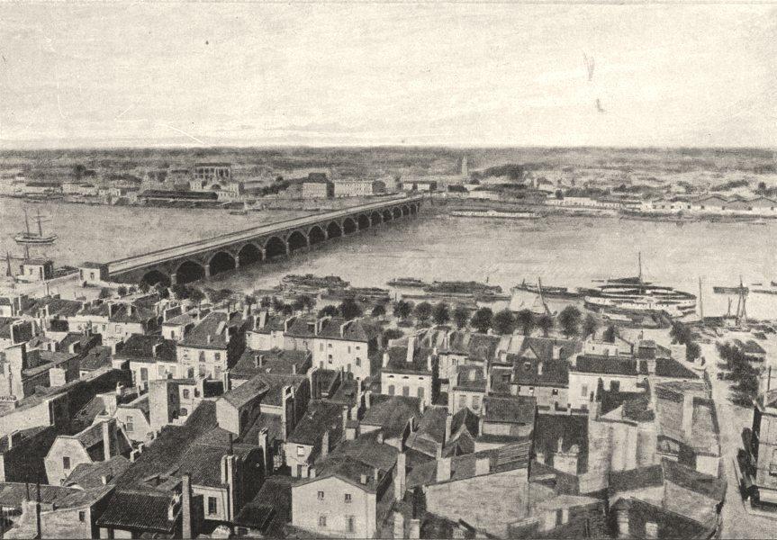 Associate Product GIRONDE. Bordeaux. de Bastide 1895 old antique vintage print picture