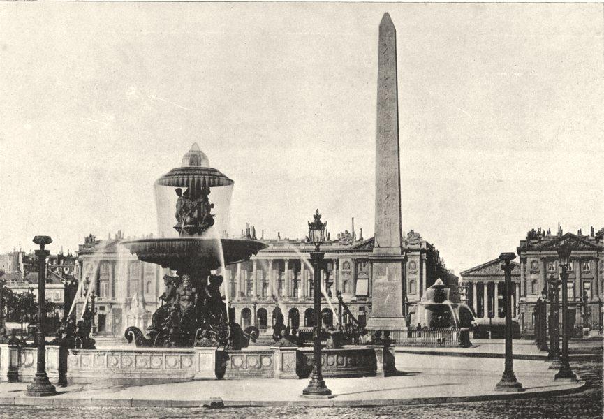 Associate Product PARIS. Place de La Concorde 1895 old antique vintage print picture