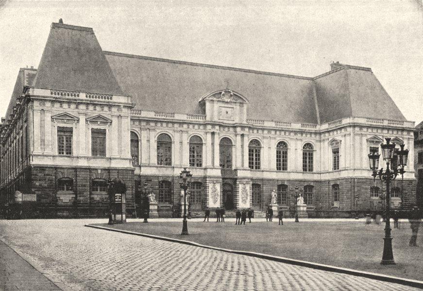 Associate Product ILLE- ET- VILAINE. Rennes. Palais de Justice 1895 old antique print picture