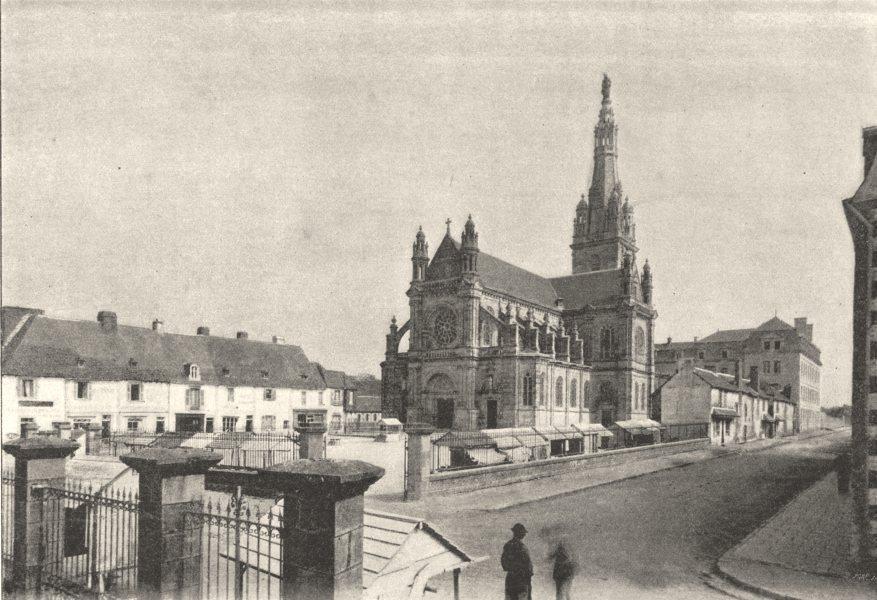 Associate Product MORBIHAN. Ste- anne- D'Auray. Basilique 1895 old antique vintage print picture