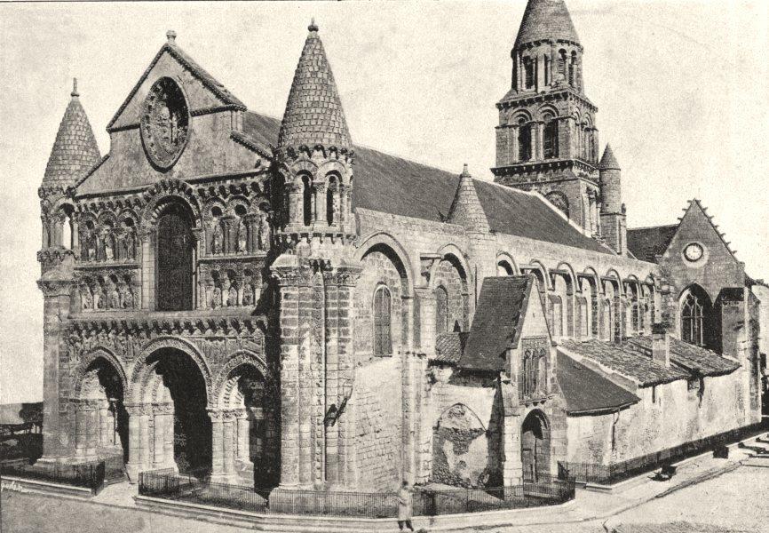 Associate Product VIENNE. Poitiers. Notre- Dame- la- Grande 1895 old antique print picture