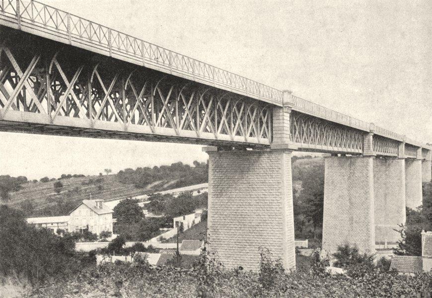 Associate Product YVELINES. Marly. Viaduc du Chemin de Fer 1895 old antique print picture
