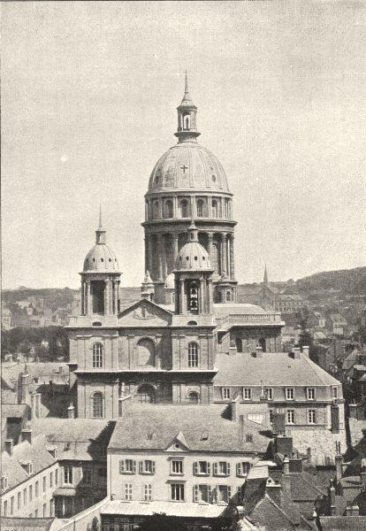 Associate Product PAS- DE- CALAIS. Boulogne- Sur- Mer. Cathédrale 1895 old antique print picture