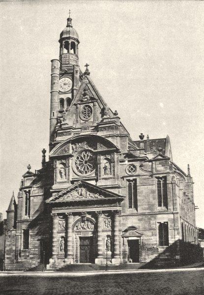 Associate Product PARIS. St- Ètienne- du- Mont 1895 old antique vintage print picture