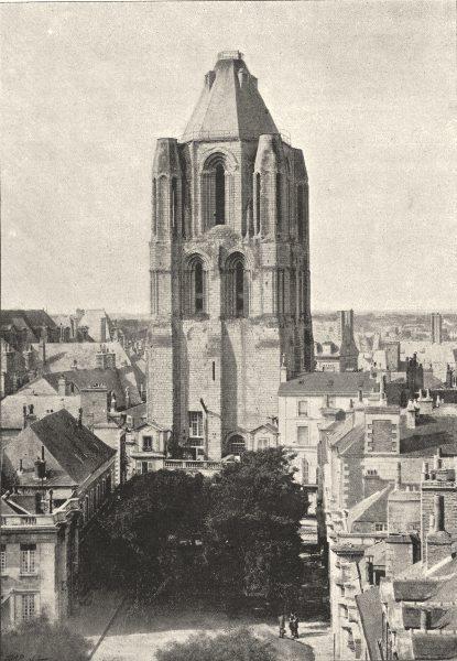 Associate Product MAINE- ET- LOIRE. Angers. Tour St- Aubin 1895 old antique print picture