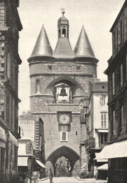 Associate Product GIRONDE. Bordeaux. Porte de L'Hotel Ville 1895 old antique print picture