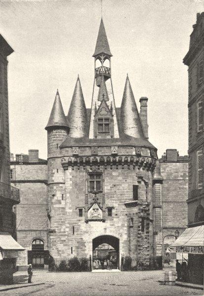 Associate Product GIRONDE. Bordeaux. Porte du Palais 1895 old antique vintage print picture
