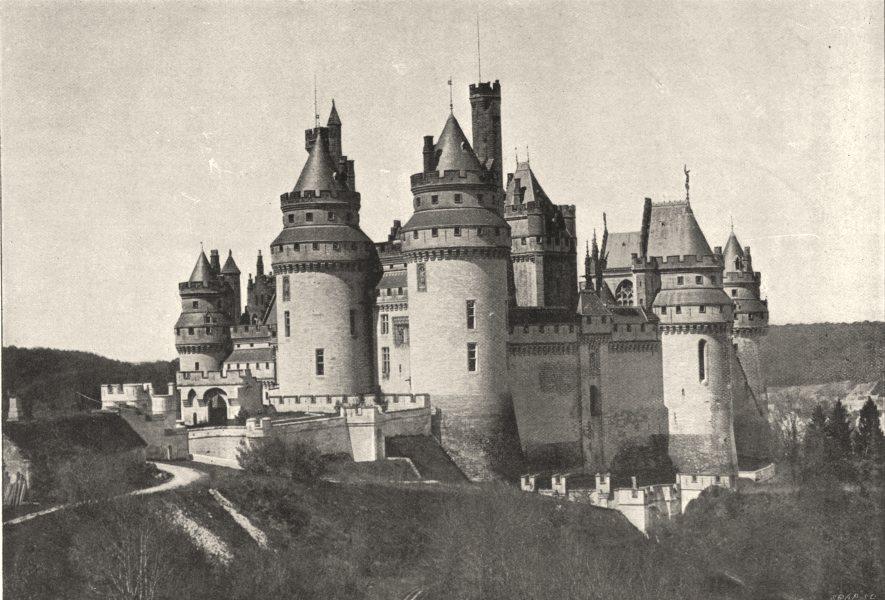 Associate Product OISE. Pierrefonds. Coté de Chapelle 1895 old antique vintage print picture