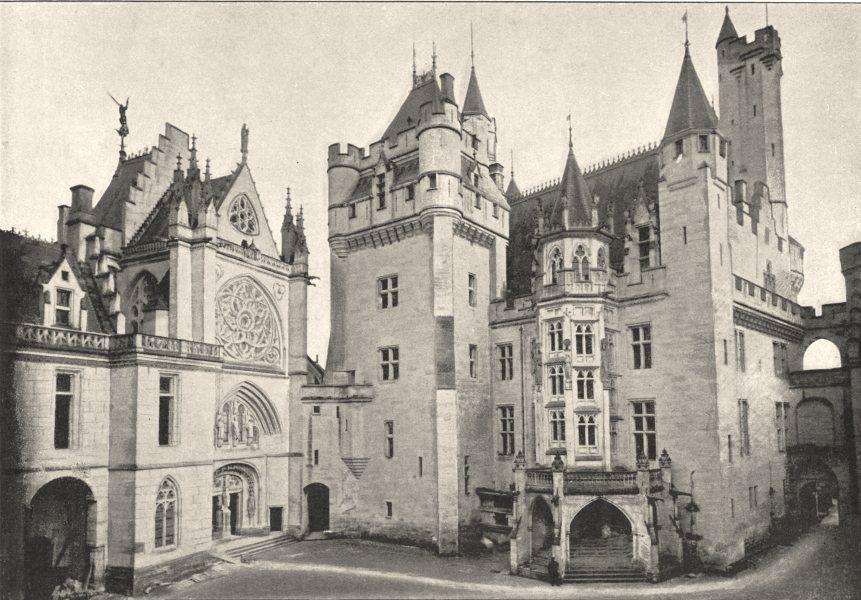 Associate Product OISE. Pierrefonds. Cour, Chapelle Escalier D'Honneur 1895 old antique print