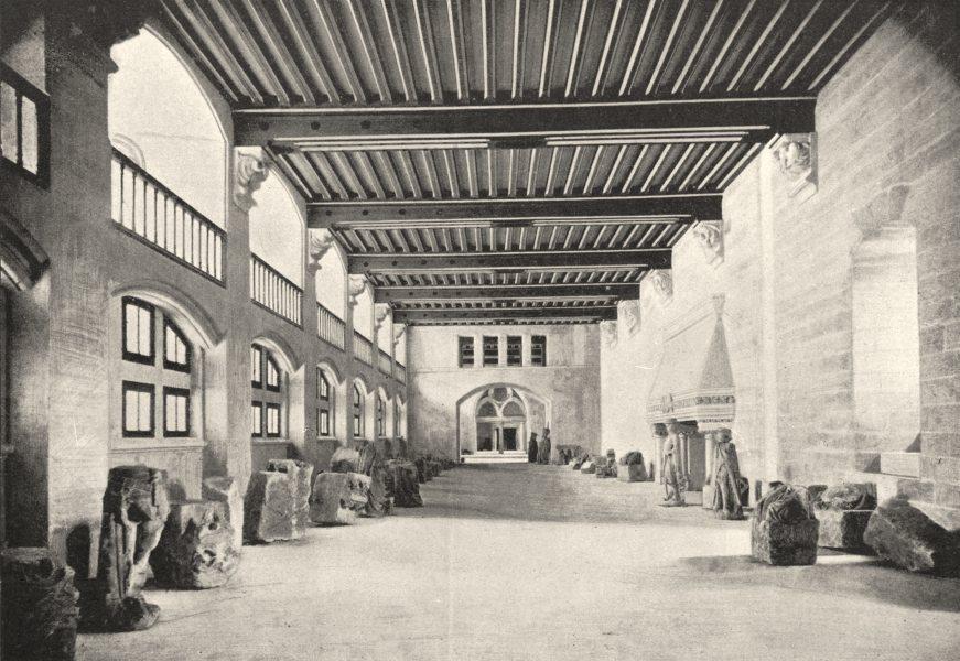OISE. Pierrefonds. Salle des Gardes 1895 old antique vintage print picture