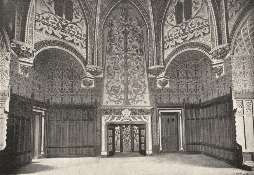 Associate Product OISE. Pierrefonds. Salle des Chevaliers de Table Ronde 1895 old antique print