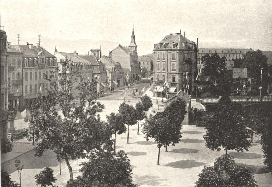 Associate Product TERRITOIRE DE BELFORT. Belfort. Faubourg des Ancêtres 1895 old antique print