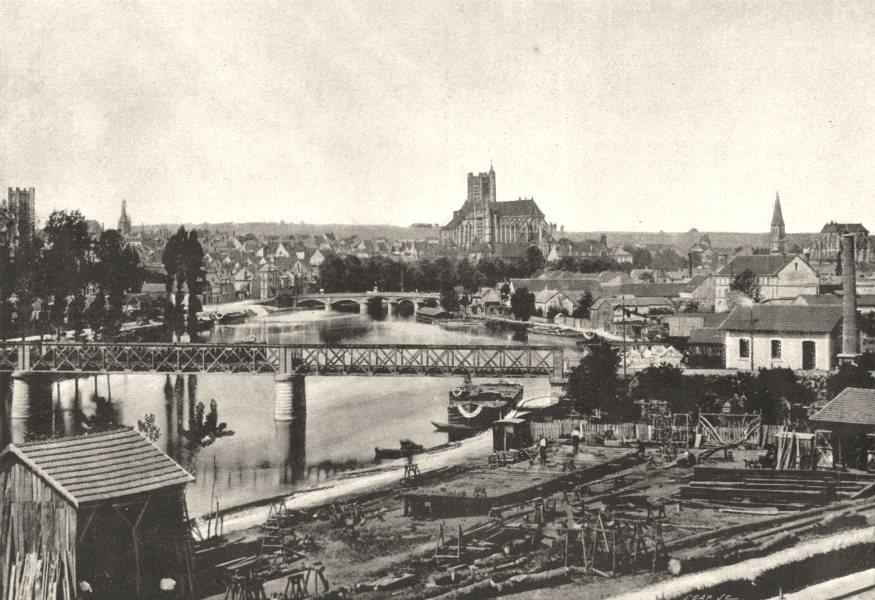 Associate Product YONNE. Auxerre. Générale 1895 old antique vintage print picture